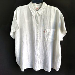 Levi's Short Sleeve Oversized Button Down Top